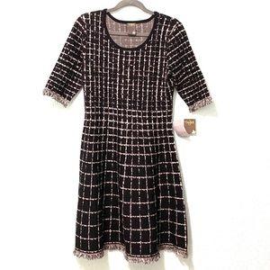 Taylor•tweed hem dress